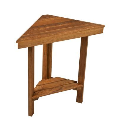 teak shower corner bench teak mini corner bench teakworks4u