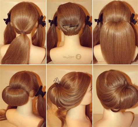 juda hair style step by step best hairstyle photos on آموزش تصویری شینیون مو آموزش شینیون مو مجله مد و
