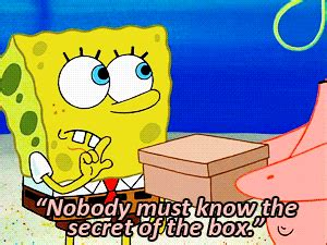 spongebob s secret book s secret box