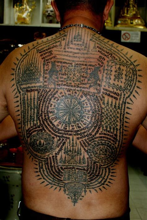 sak yant thai temple tattoos full back piece sak yant