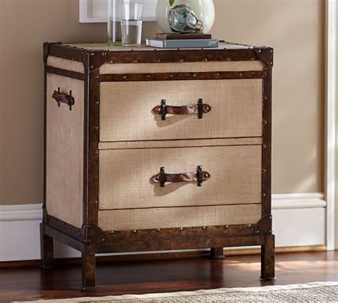 trunk bedside table redford trunk bedside table pottery barn