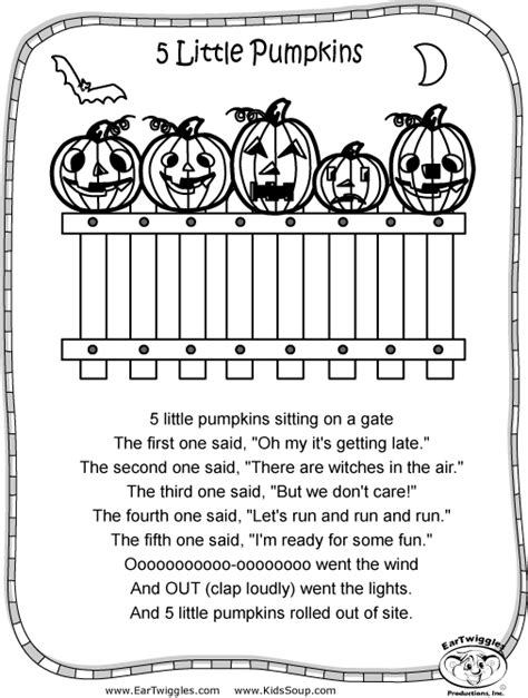 five little pumpkins coloring book coloring pages