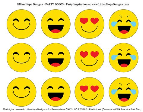 printable emojis pdf http lillianhopedesigns com emoji party free emoji