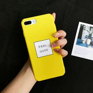 feel letter matte pc yellow phone cover for iphone x 8 7 6 plus ebay