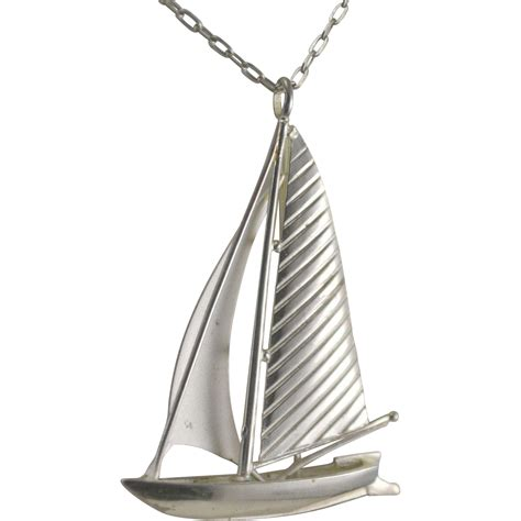 pendant l k l 835 silver sailboat pendant with chain from