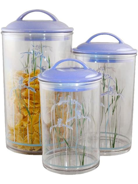 Clear Plastic Kitchen Canisters by 3 Corelle Clear Acrylic Canister Set See Thru Storage Jars