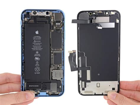 iphone xr teardown reveals battery thick lcd panel more