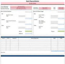 free bank reconciliation template free excel bank reconciliation template