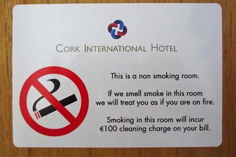 how to smoke in a non hotel room they take their no policy seriously picture of cork international hotel cork