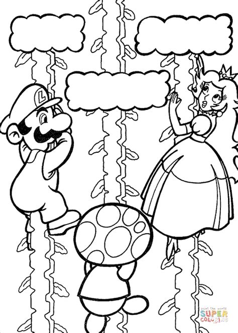 mario coloring pages princess mario is saving princess coloring page free printable