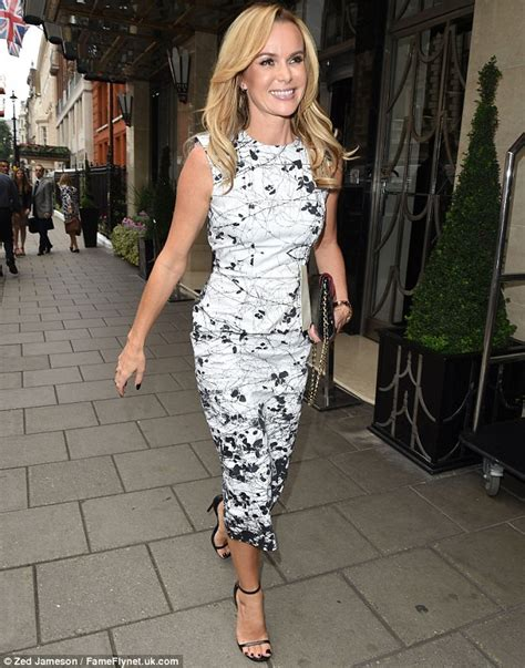 holden claridge amanda holden wows in monochrome as she teams backless