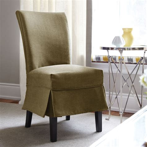big chair slipcovers sure fit bayside relaxed fit dining chair slipcover in moss
