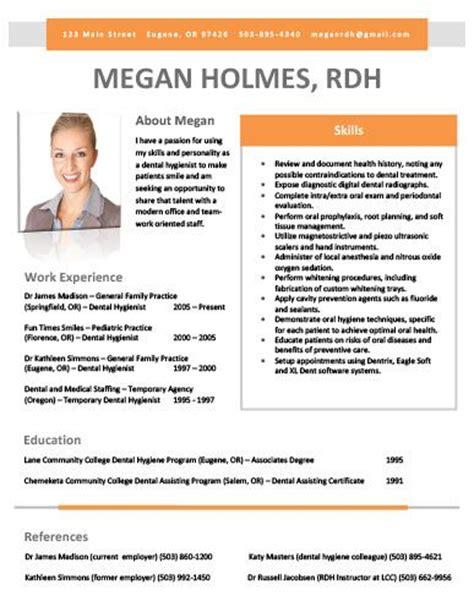 dental hygiene resume sles 33 best dental hygiene resumes images on