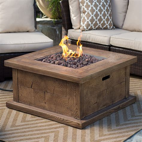Red Ember Timberline 35 In Gas Fire Pit Table With Free Gas Firepit Tables