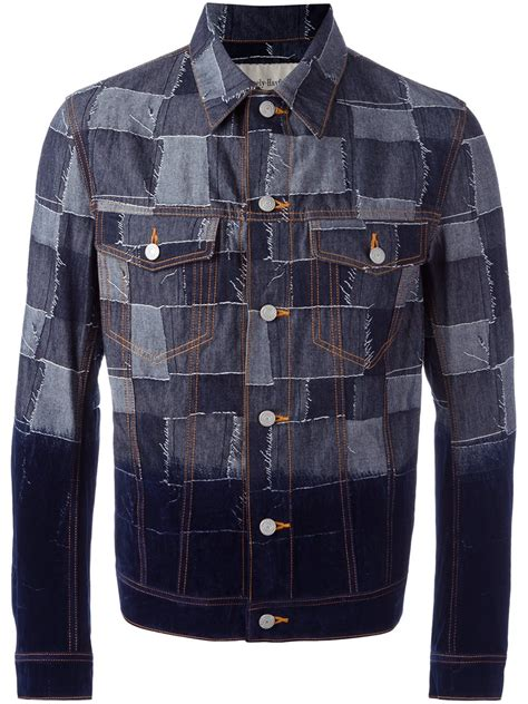 Patchwork Denim Jacket - casely hayford patchwork denim jacket in blue for lyst