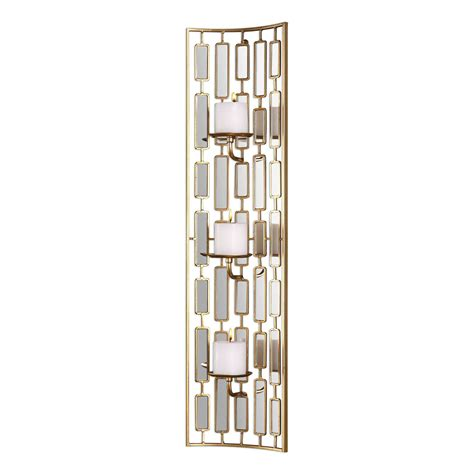 Mirrored Wall Sconce Uttermost Loire Mirrored Wall Sconce