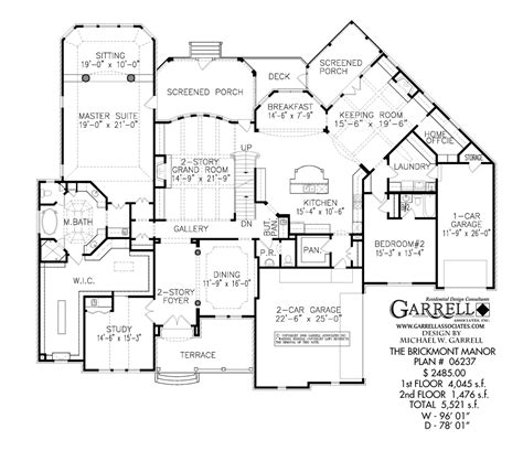 brickmont manor house plan house plans by garrell