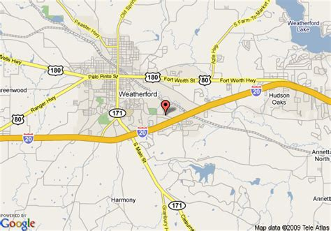 map weatherford texas map of best western santa fe inn weatherford