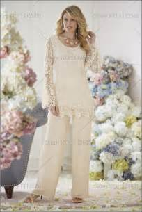 Home ivory lace mother of the bride dresses pants suit