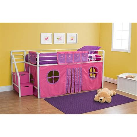 twin beds girls girls twin loft bed with storage steps