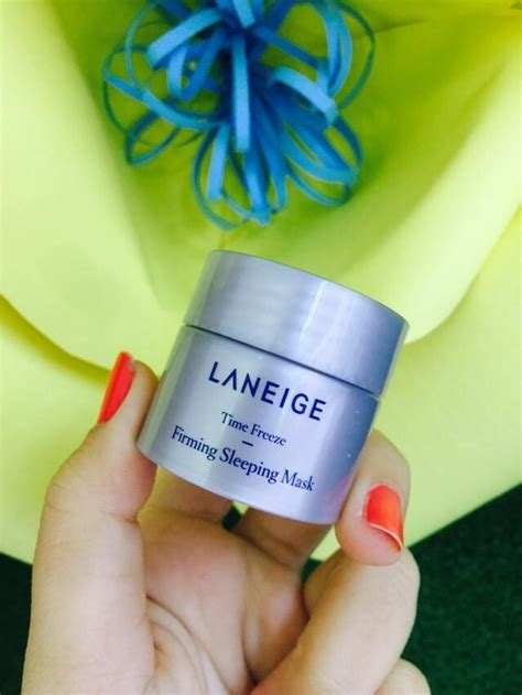 Laneige Mini Time Freeze Firming Sleeping Mask 10 Ml mini 10ml mặt nạ ngủ chống l 227 o h 243 a time freeze firming