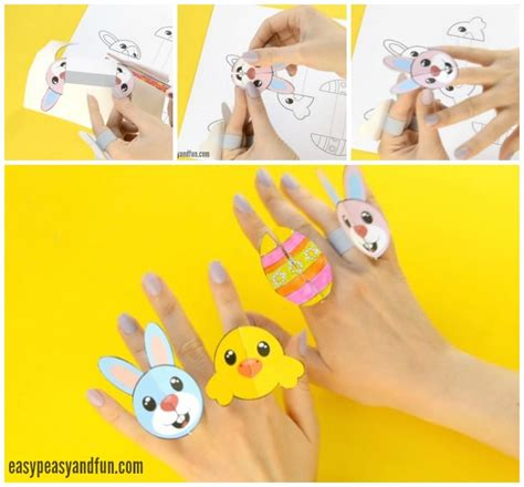 printable paper easter crafts printable easter paper rings for kids easter craft