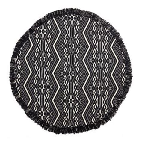 Black And White Ikat Rug by Black And White Ikat Rug Paper Source