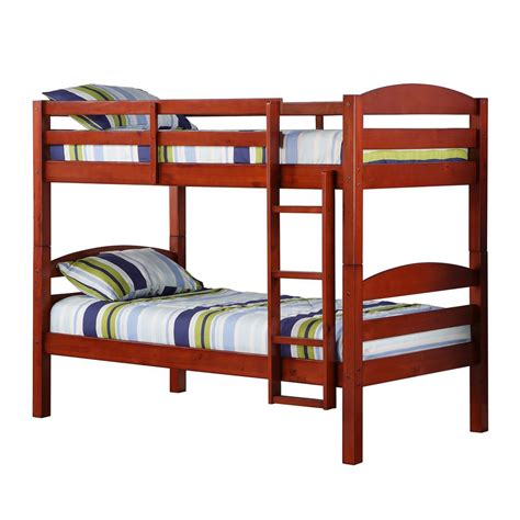 loft bed wood walker edison furniture company carolina twin over twin