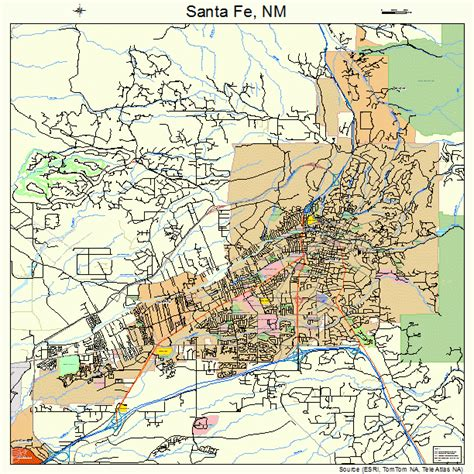 santa fe map santa fe map images