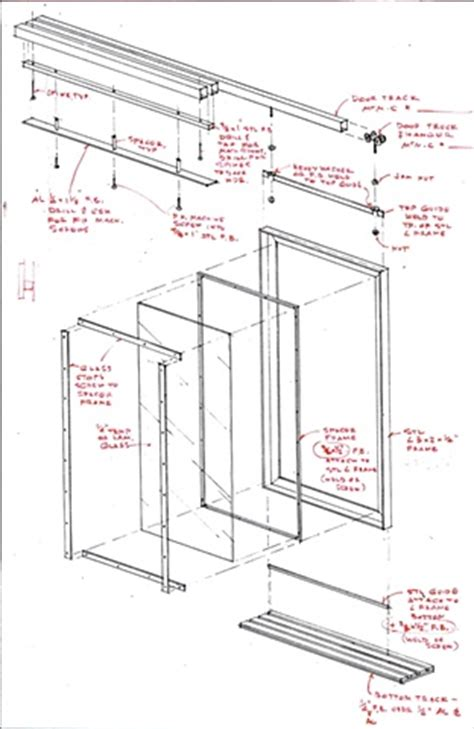 Frameless Kitchen Cabinet Plans bill molthen exploded axon sliding glass amp steel doors