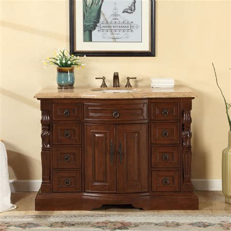 48 inch bathroom vanity cabinet accord 48 inch single sink bathroom vanity roman vein cut