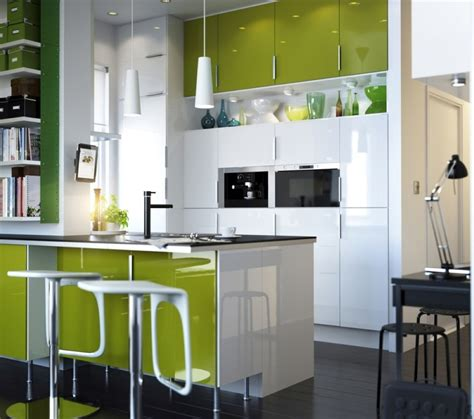 green white kitchen design white and green kitchen interior with quartz