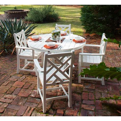 Patio Dining Sets Made In Usa Polywood Recycled Plastic 5 Patio Dining Set Made