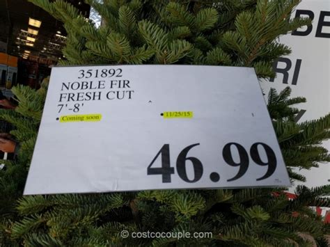 2015 costco christmas tree noble fir fresh cut tree