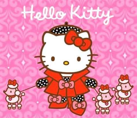 imagenes de hello kitty vestida de tigres hello kitty vestida elegantemente paseando a sus perros