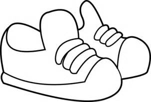 coloring shoes sneakers coloring page free clip