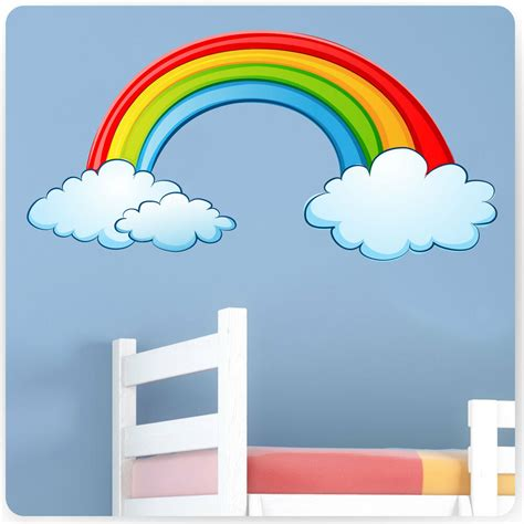 childrens kids bedroom rainbow wall stickers girls baby