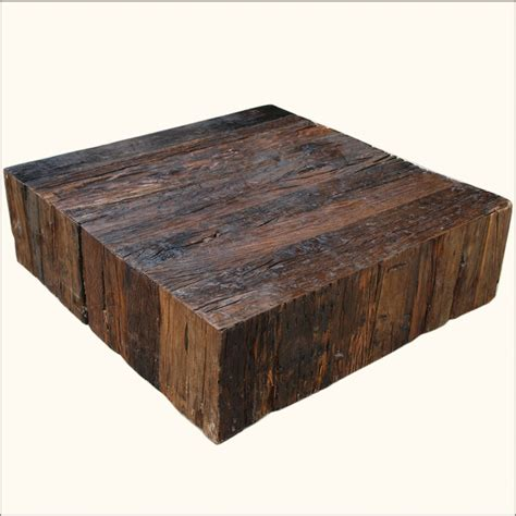 Railroad Tie Coffee Table Our Appalachian Rustic Railroad Ties Square Box Style Coffee Table Is Built With Solid