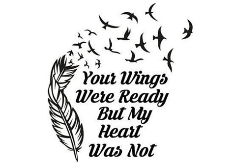 feather tattoo your wings were ready your wings were ready svg your wings were ready but my heart