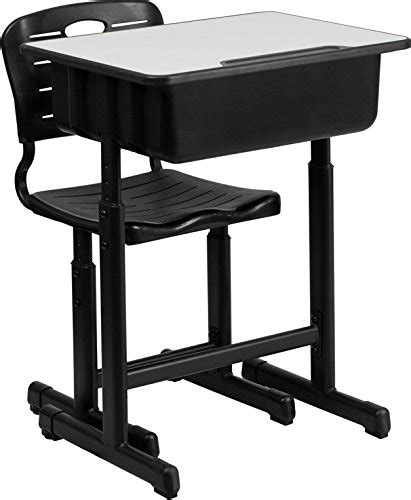 adjustable height desk and chair with black pedestal frame create a homework station desks for back to