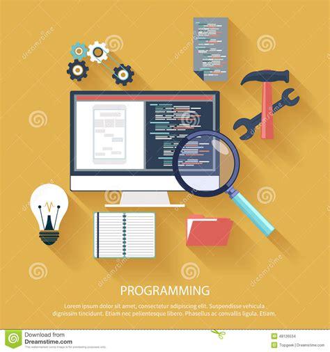 web design application software programming concept stock vector image 48126534