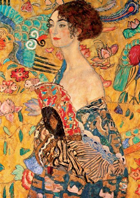 With A Fan By Klimt Outset Media