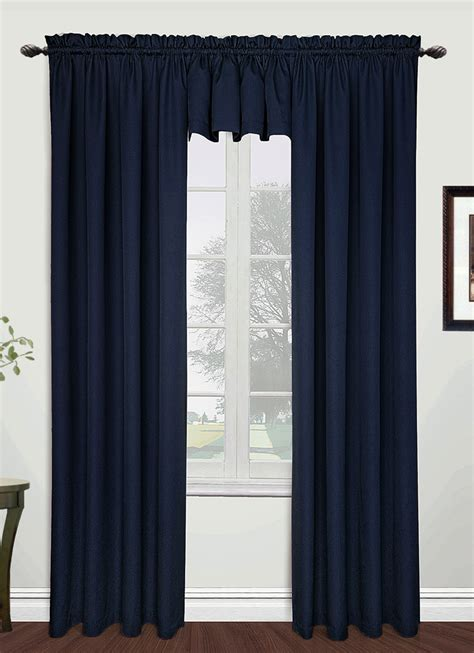 Navy Valances Window Treatments Metro Tailored Curtain Navy United Window Treatments