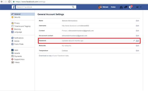 gmail reset link how to change password of facebook gmail twitter yahoo
