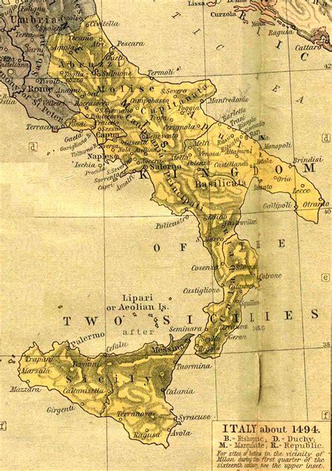 cartes historiques de naples