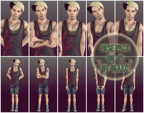 sims 3 male poses blakc s pose place male pose pack no 19