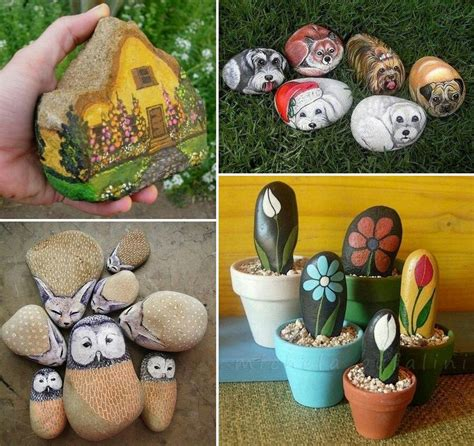 rock craft projects painted rock ideas crafts