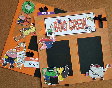 boo crew halloween scrapbook pages joyful daisy