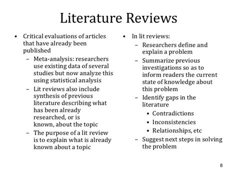 Critical Literature Review Guidelines by Literature Review Exle Apa 6th Edition