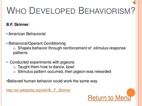 patterned response theory learning theory behaviorism
